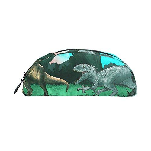 COOSUN - Estuche para lápices de dinosaurios antiguos, semicircular, bolígrafo de papelería, bolsa, estuche para maquillaje, neceser de cosméticos para ...