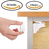 Magnetic Child Safety Cabinet Locks (14 Locks + 3 Keys),Baby Proofing Cabinets Lock and Drawers Latch,Protectors for Furniture Against Sharp Corners (8 Pack) | 3M Adhesive Review