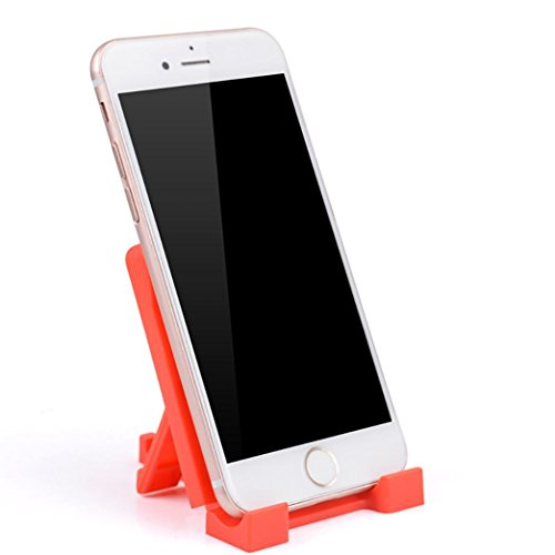 Mchoice Mini Bracket Mobile Phone Stand Holder Mount Car Home Desk for iPhone Samsung (Watermelon Red)