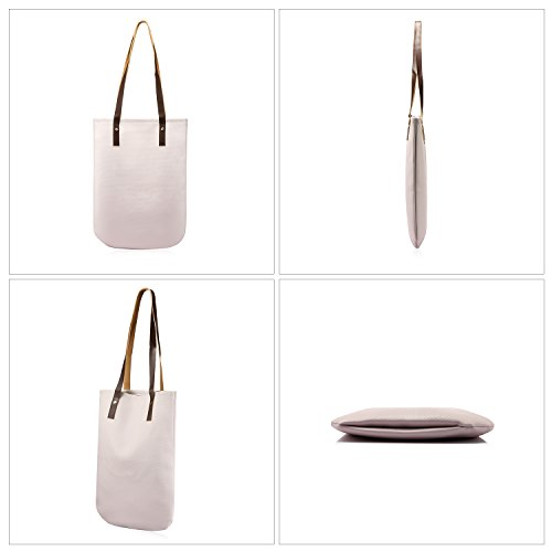 Purse Shoulder Travel Top Set Bag Handbags Bag white Bag for Pieces Women Satchel Top Tote Tote Designer 3 Zip Handle nPqI8Txng