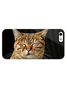 3d Full Wrap Case for iPhone 5/5s Animal Cat Aslee
