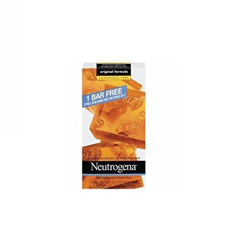 Neutrogena FRAGRANCE-FREE Transparent Facial Cleansing Bar,