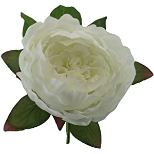 Ivory Silk Peony Boutonniere - Groom Boutonniere Prom 58