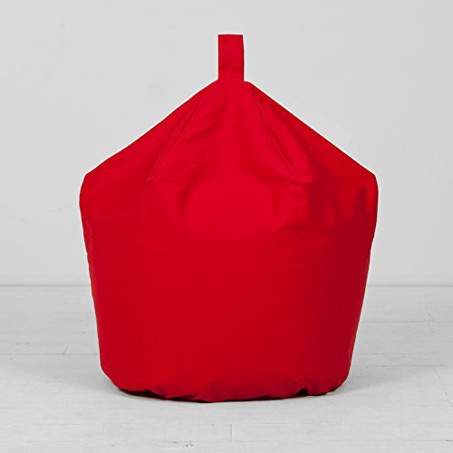 Bright Red Extra Large XL Childrens Kids Boys Girls 100% Cotton Bean Bag Beanbag With Filling Creative Living