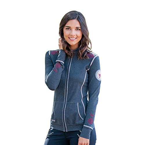Alp-n-Rock Women's Cross Stitch Zip Up Hoodie for cheap