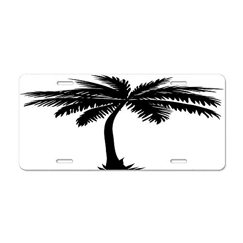 Decorator Spring Wound Wall - Aoxiananclicensecover License Plate Cover,Car Decorative,Personalized License Plate,Custom License Plate,License Plate Sign 6x12 Inches - Wound Clipart Palm