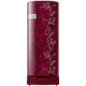 Samsung 192 L 2 Star Direct-Cool Single Door Refrigerator (RR19T2Y1B6R/NL, Mystic Overlay Red)