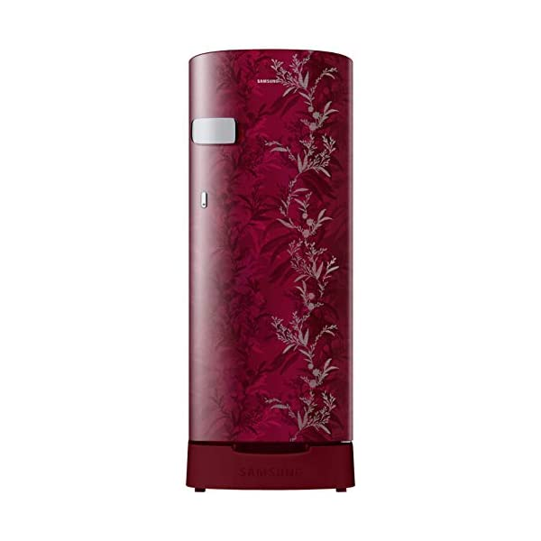 Samsung 192 L 2 Star Direct-Cool Single Door Refrigerator (RR19T2Y1B6R/NL, Mystic Overlay Red) 2021 July Direct-cool refrigerator : Economical and Cooling without fluctuation Capacity 192 liters: Suitable for families with 2 to 3 members and bachelors Energy rating 2 Star