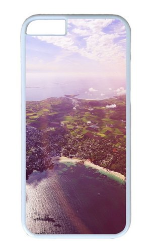iPhone 6 Case Color Works Sky View Mountain City Sunny Day Phone Case Custom White PC Hard Case For Apple iPhone 6 4.7 Inch Phone - Specs Sunnies Le
