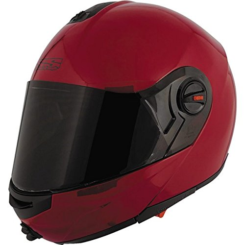 Speed and Strength Solid Speed Modular SS1700 Motorcycle Helmet (Gloss Wineberry, X-Small)
