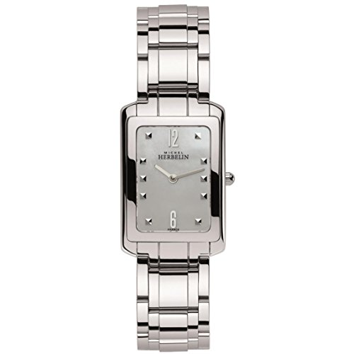 MICHEL HERBELIN WOMEN'S STEEL BRACELET & CASE QUARTZ ANALOG WATCH 17479/B19