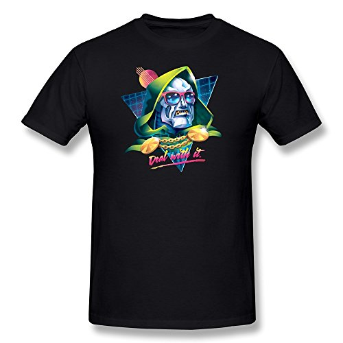 Doctor+Doom+shirts Products : BoAlyn Men's Doctor Doom Deal With It T-shirt Black
