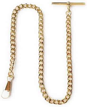 Desperado Gold Albert Vest Pocket Watch Chain with T bar - USA