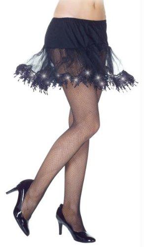 Black Light-Up Petticoat Adult, One-Size, (Tutu Lightup Adult Costumes)
