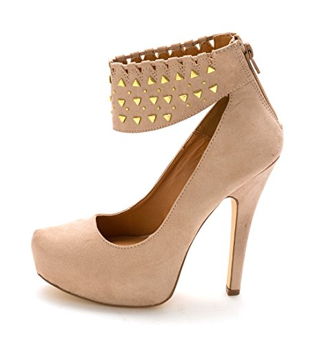 Womens ShoeDazzle Strap Nude Toe Sakina Ankle Platform Pumps Closed THd1f7xqwH