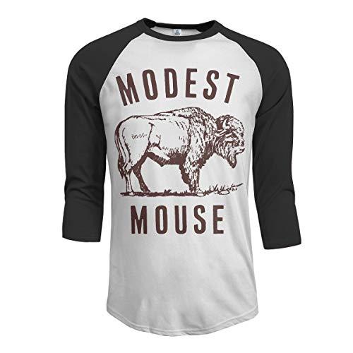 Modest Mouse T-shirt - JeremiahR Modest Mouse Men's 3/4 Sleeve Raglan Baseball T-Shirt Black XL