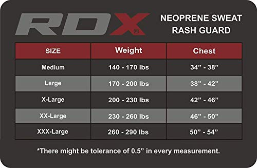 RDX Sauna Suit Neoprene MMA Compression Base Layer Rash Guard Thermal Shirt Top Sweatshirts