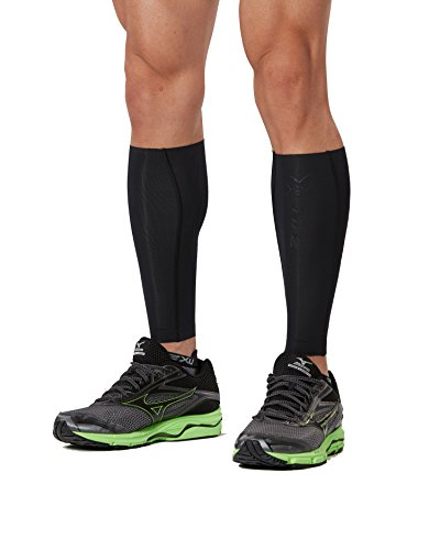 2XU Elite MCS Compression Calf Guards, Black/Nero, Large