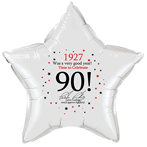 1927 - 90TH BIRTHDAY STAR BALLOON