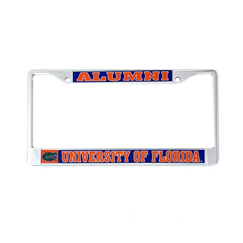 University Of Florida License Plate Frames - Desert Cactus University of Florida Alumni Metal License Plate Frame for Front Back of Car Officially Licensed UF Gators (Alumni)