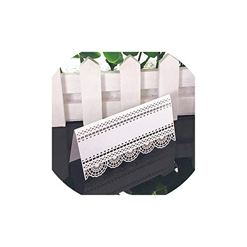 Greeting Card,50Pcs White Lace Name Place Cards Wedding Decoration Table Decor Table Name Message Greeting Card Baby Shower Party Supplies,Xc0015-1,11X9Cm