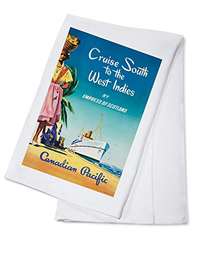 Canadian Pacific - Cruise South to the West Indies Vintage Poster (100% Cotton Kitchen Towel)