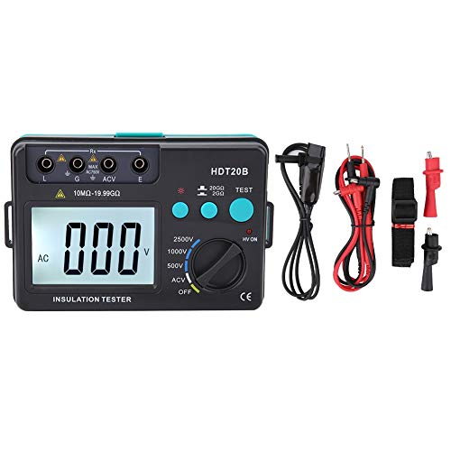 - Digital Resistance Tester,2500V Megohmmeter,Auto Range,High Voltage and Low Battery Indication