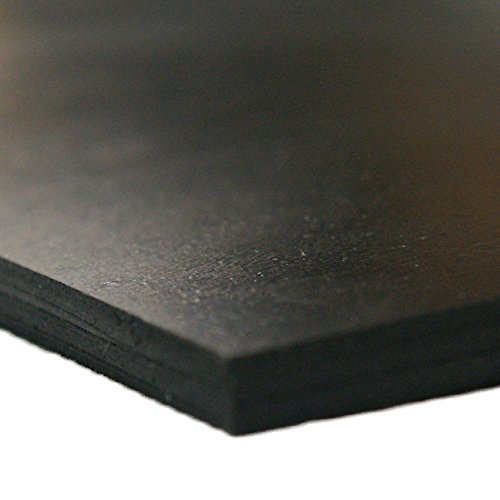 Neoprene - Commercial Grade - 45A - Soft Rubber Sheet Rolls - 14 Thick x 24 Width x 12 Length