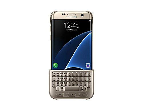 Samsung Galaxy S7 Edge Keyboard Cover (QWERTY) - Gold