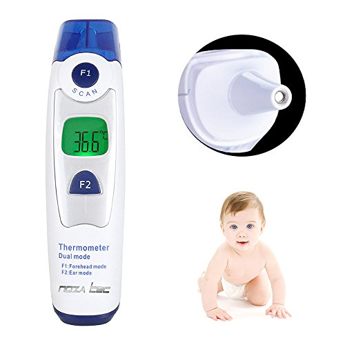 Amazon.com : Digital Forehead and Ear Dual Mode Infrared Fever Thermometer For Baby, Kids & Adults, Fast and Accurate baby thermometer with 20 Memory Recall ...