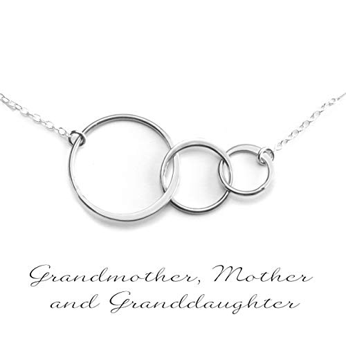 - GENERATIONS NECKLACE - GRANDMA NECKLACE - PURE Sterling Silver Necklace (Handmade in the USA by Gracefully Made Jewelry)