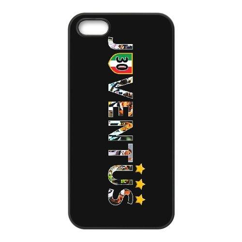 Juventus 004 coque iPhone 5 5S cellulaire cas coque de téléphone cas téléphone cellulaire noir couvercle EOKXLLNCD25051