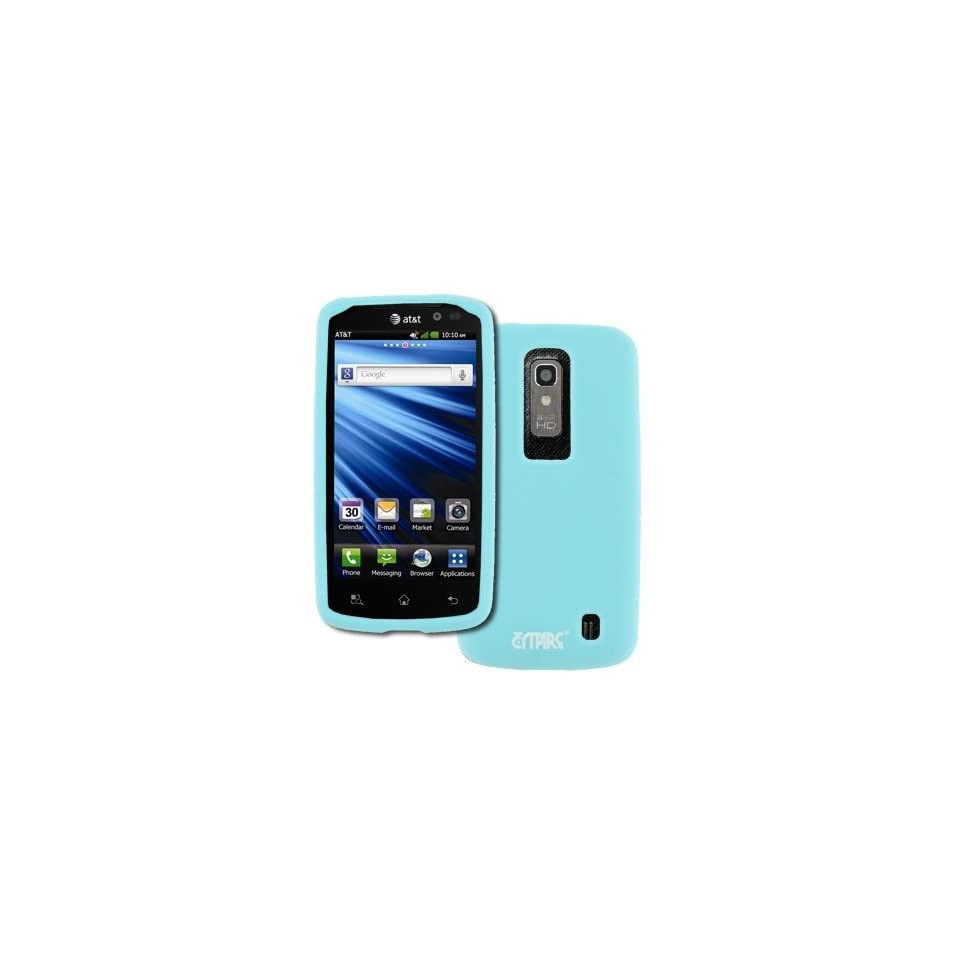 EMPIRE AT&T LG Nitro HD Light Blue Silicone Skin Case Cover [EMPIRE Packaging]