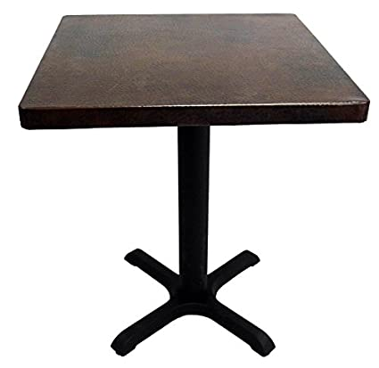 Amazoncom Wide Square Copper Dining Table Somber Colored - Square copper coffee table