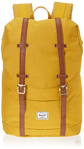 1e8aac44c38d Herschel Retreat Mid-Volume Backpack Arrowwood Tan Synthetic Leather One  Size