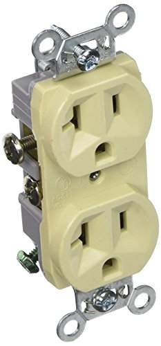Hubbell CR20I Commercial Series Duplex Receptacle, Ivory