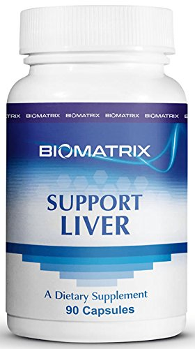 Support Liver (90 Capsules) - Liver Cleanse and Detoxification Supplement with Methionine, Taurine, Glutathione, Lemon Bioflavonoid Complex, Supports Energy Production by BioMatrix
