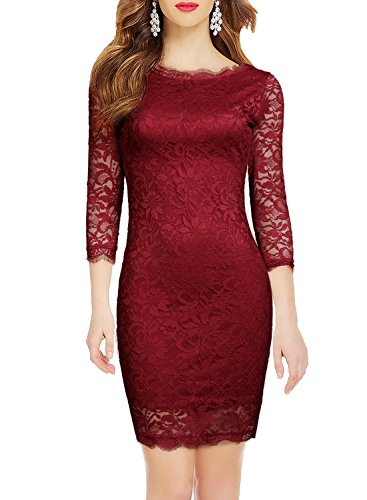 lace 3 4 sleeve dress - 4