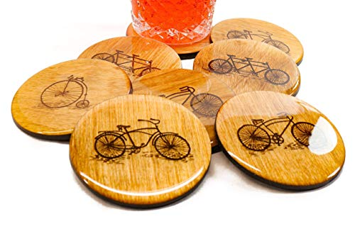 Set of 4 PREMIUM Bicycle Coasters - 3.5
