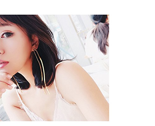 Generic Korean version of the Creative simple Beautiful long earrings women girls lady personality and temperament sexy nightclub influx of people in Europe and America earrings earrings