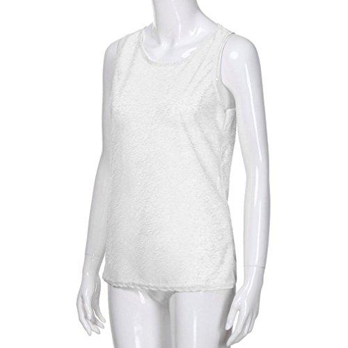 Bianco Canotta Donna Maglietta T Top Abbigliamento ASHOP Shirt Gilet Forti Taglie Donna Estivo Maniche Senza Abbigliamento Donna ax0Og