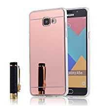 Galaxy A500 TPU Case,IVY Mirror Design with Mirror Shockproof and Scratch-Resistant TPU Case Cover For Samsung Galaxy A5 (2015) - Rose Gold