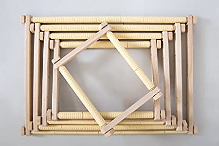 3 VARIATIONS OF SIZES S//M//L GONCHAROFF TAPESTRY SCROLL EMBROIDERY FRAMES FROM ORGANIC BEECH; WITH LIFETIME WARRANTY