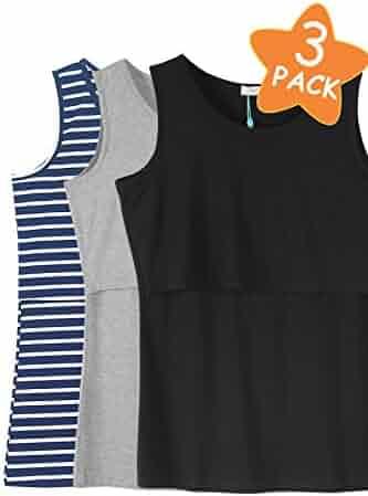 f17df26d082ec Smallshow Women s Sleeveless Maternity Nursing Tank Tops Breastfeeding  Clothes