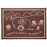 Stylish Camping RH8187 Brown/Beige 8 Feet x18 Feet RV Home Mat