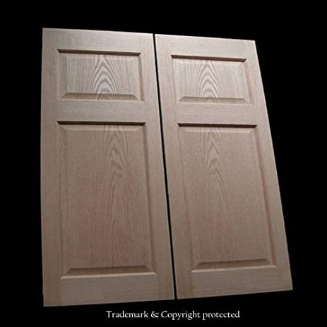 Cafe Doors (Prefit For 36u0026quot; Finished Opening) Raised 4 Paneled Oak  Saloon Western