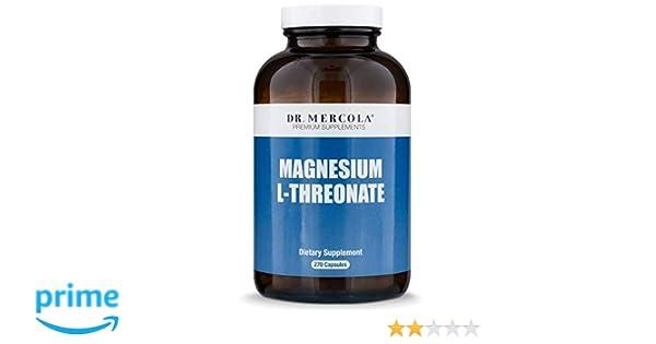 Magnesio L-Threonate (90 cápsulas) - Dr. Mercola: Amazon.es: Salud y cuidado personal