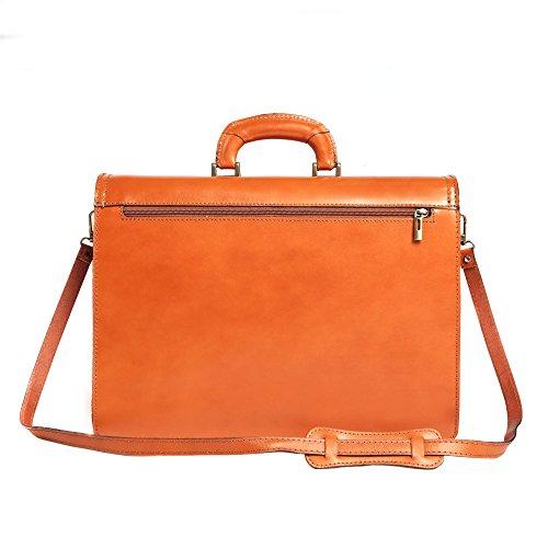 El y de cuero mujer Cartel Made italiano Italy Cuero bolsa hombre en Cm de la 39x30x18 Maletín in nXxcqwH1W