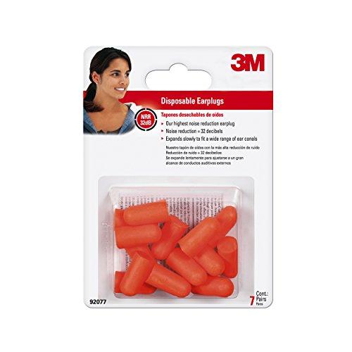 Soft Plugs Foam Ear 3m (3M Disposable Earplugs, 7-Pair)