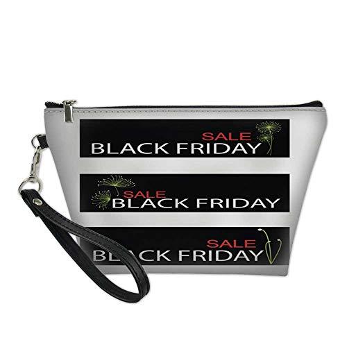 - girls makeup bagcosmetic zipper bagCyperus Papyrus Plants on Black Friday Sale Banner 8.5